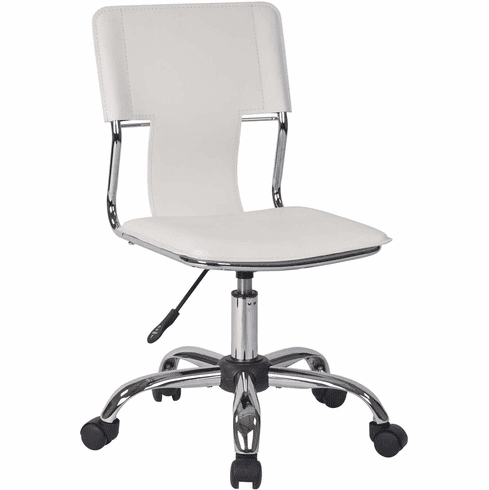 Ave Six Carina Task Chair in White Vinyl [CRN26-WH]