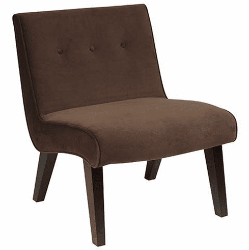Office Star Accent Chair Chocolate Velvet Val51n C12