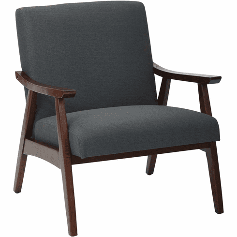 Ave Six Davis Chair Klein Charcoal / Medium Espresso [DVS51-K26]