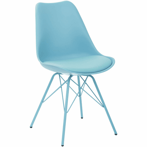 Ave Six Emerson Teal Student Side Chair [EMS26G-7]