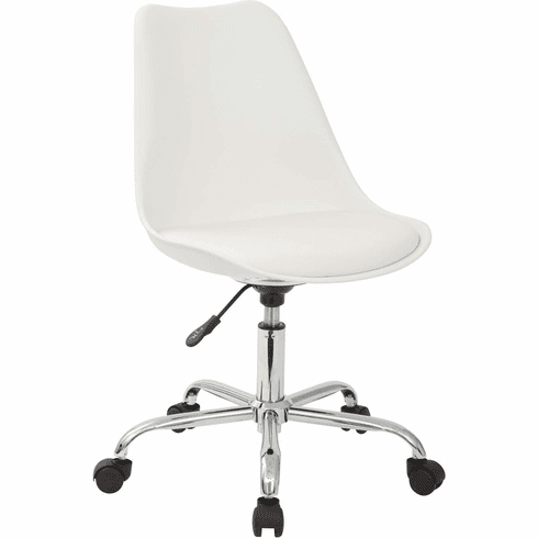 Ave Six Emerson White Student Office Chair Pneumatic Base [EMS26-11]