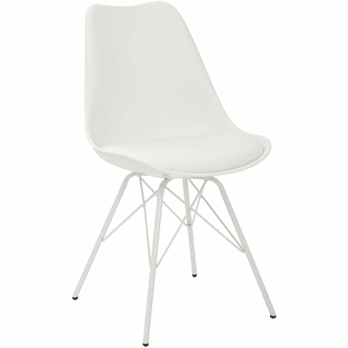 Ave Six Emerson White Student Side Chair [EMS26G-11]