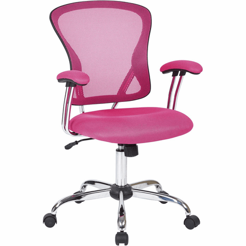 Ave Six Juliana Task Chair in Pink Mesh [JUL26-261]