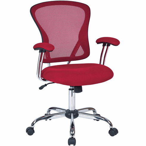Ave Six Juliana Task Chair in Red Mesh [JUL26-9]