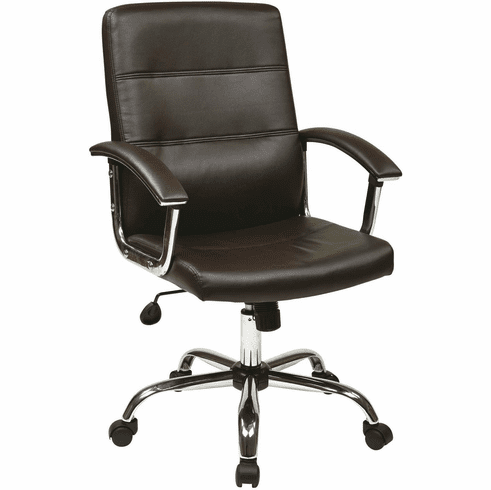 Ave Six Malta Office Chair in Espresso [MAL26-ES]