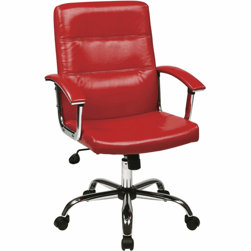 Ave Six Malta Office Chair in Red [MAL26-RD]