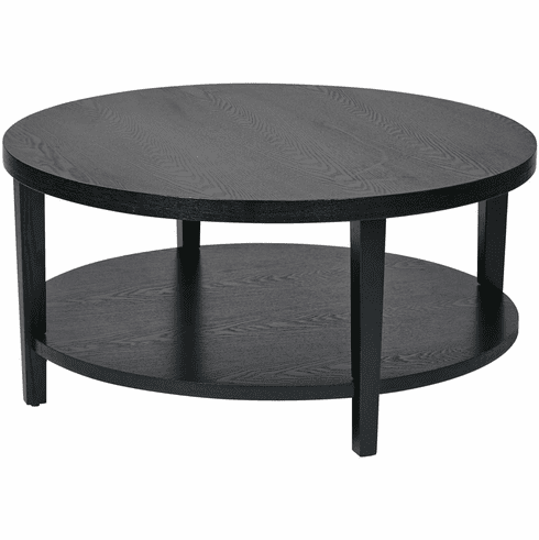 Round Coffee Table With Chairs.Ave Six Merge 36 Round Coffee Table Black Mrg12 Bk