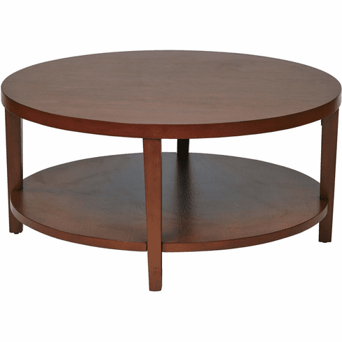 """Ave Six Merge 36"""" Round Coffee Table Cherry [MRG12-CHY]"""