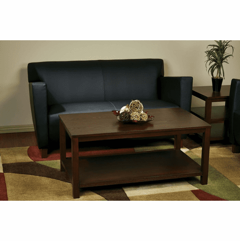 "Ave Six Merge 42"" Rectangular Cocktail Table Mahogany [MRG12R-MAH]"