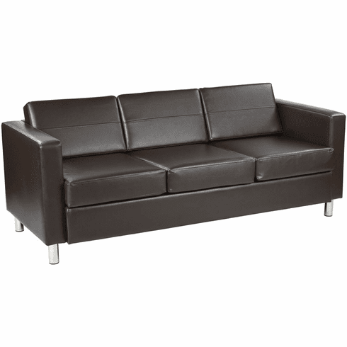 Office Star Pacific EspressoSofa PAC53-V34 Office Chairs Unlimited