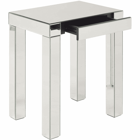 Ave Six Reflections Accent Table Silver Mirror [REF17-SLV]
