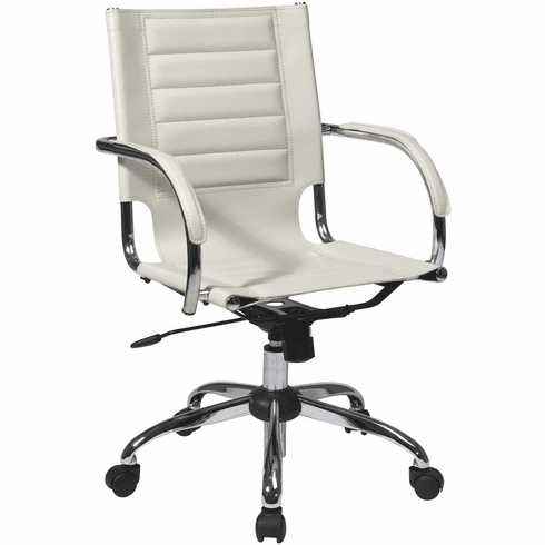 Ave Six Trinidad Cream Office Chair Fixed Padded Arms [TND941A-CRM]