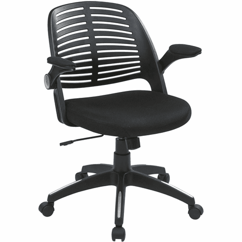 Ave Six Tyler Office Chair Black Frame Black Fabric [TYLA26-B3]