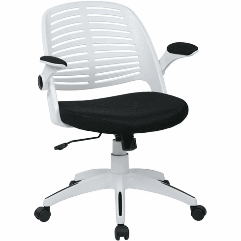 Ave Six Tyler Office Chair White Frame Black Fabric [TYLA26-W3]