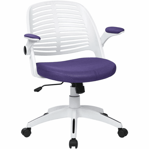 Ave Six Tyler Office Chair White Frame Purple Fabric [TYLA26-W512]