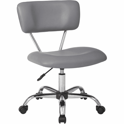 Ave Six Vista Task Office Chair In Grey Faux leather [ST181-U42]
