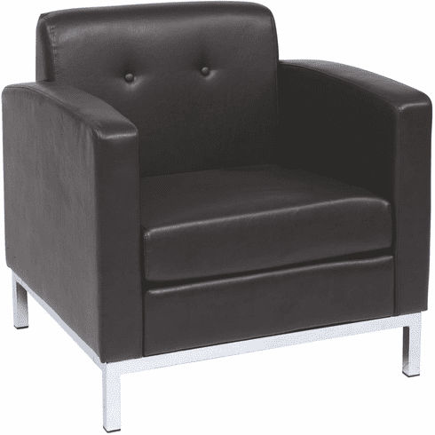 Ave Six Wall Street Arm Chair Espresso Faux Leather [WST51A-E34]
