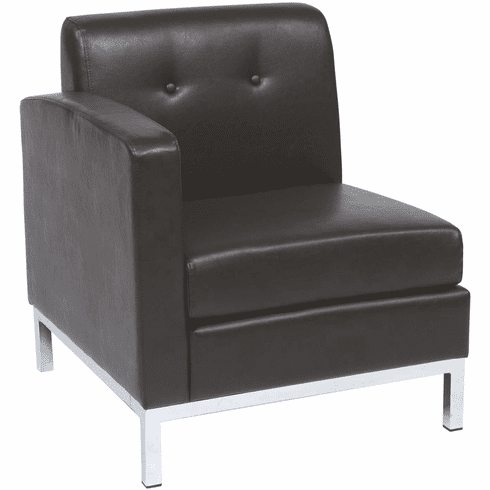 Ave Six Wall Street Arm Chair LAF Espresso Faux Leather [WST51LF-E34]