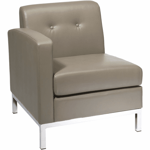 Ave Six Wall Street Arm Chair LAF Smoke Faux Leather [WST51LF-U22]