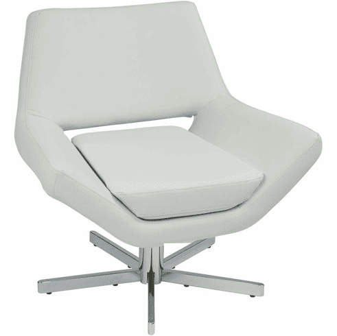 Ave Six Yield 31 Modern White Faux Leather Lounge Chair [YLD5130-W32]