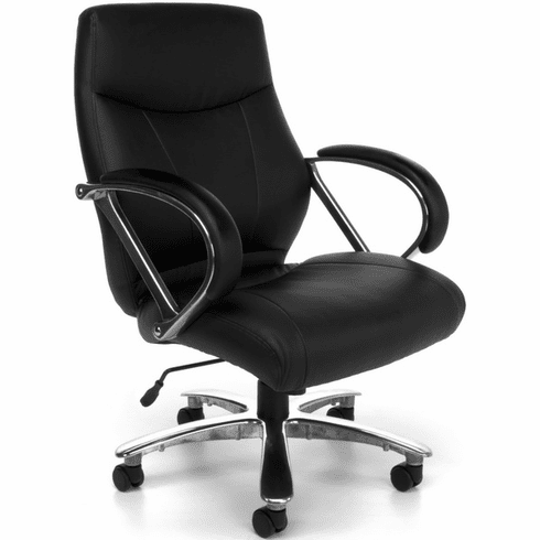 Avenger Mid Back Big and Tall Executive Chair [811-LX-BLK]