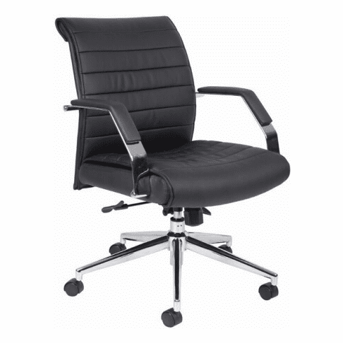 Boss Contemporary Mid Back Ribbed Office Chair [B9446]