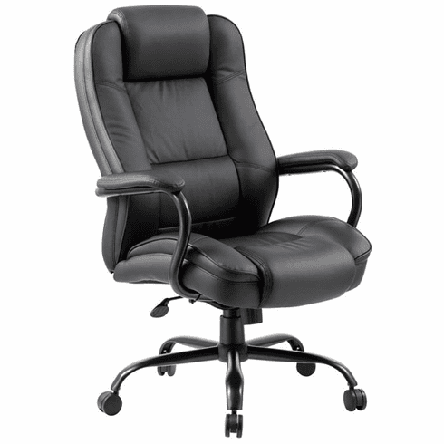 Boss LeatherPlus Heavy Duty Executive Chair [B992-BK]