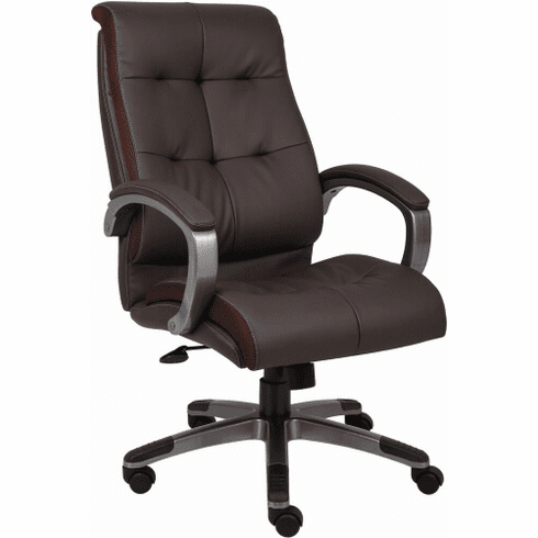 Boss LeatherPlus High Back Executive Chair [B8771]