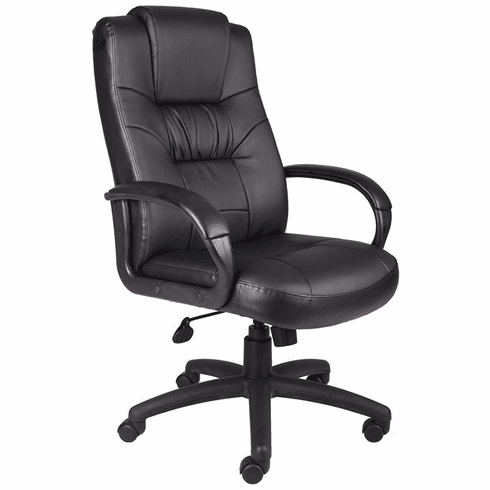 Boss Lumbar Support Leather Office Chair [B7501]