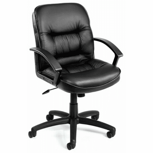Boss Mid Back Leather Desk Chair [B7306]