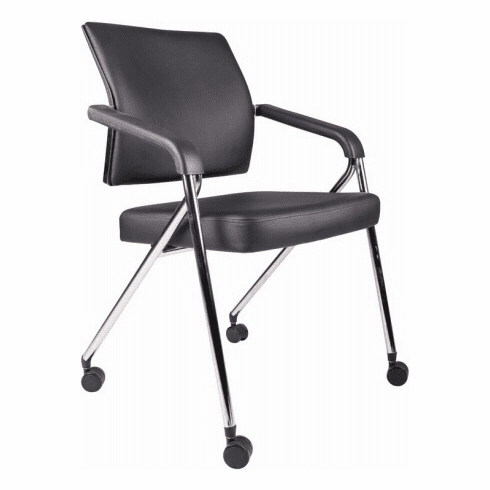 Boss Office Folding Chairs with Casters [B1800]