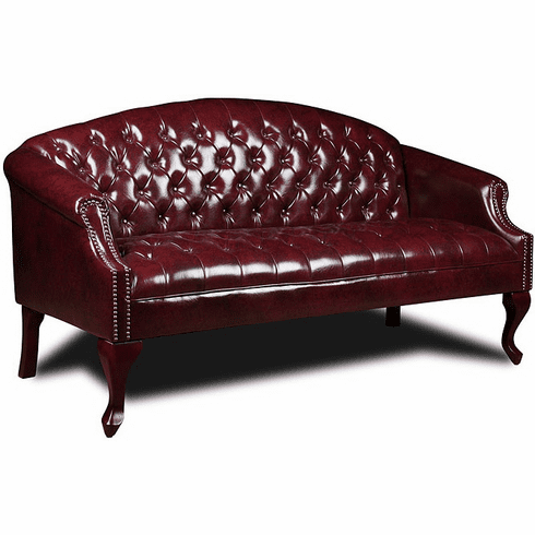 Boss Oxblood Button Tufted Sofa [BR99803]