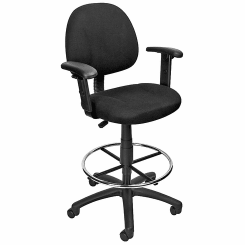 Boss Sculptured Seat & Back Drafting Chair [B1616]