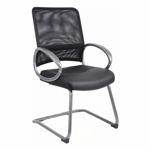Boss Sled Base Mesh Guest Chair [B6409]