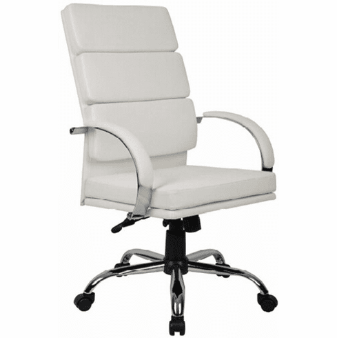 Boss White CaressoftPlus™ High Back Executive Chair [B9401]
