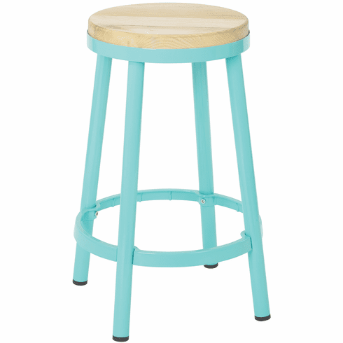Terrific Bristow 26 Metal Backless Counter Stool Mint Finish Frame Brw3226 16 Pabps2019 Chair Design Images Pabps2019Com