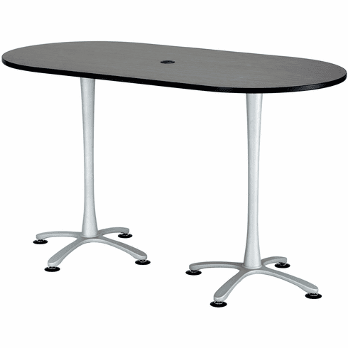 Cha-Cha Conference Table 72 x 36 Asian Night & Metallic Gray [2550ANSL]