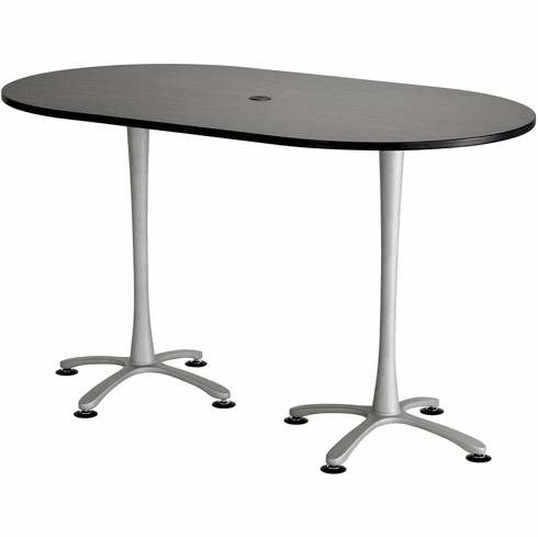 Cha-Cha Conference Table 72 x 42 Asian Night & Metallic Gray [2552ANSL]
