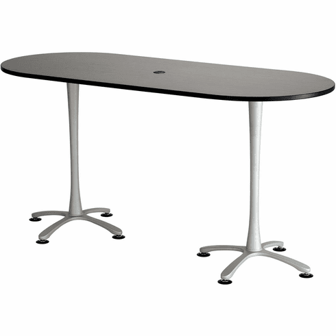 Cha-Cha Conference Table 84 x 36 Asian Night & Metallic Gray [2551ANSL]