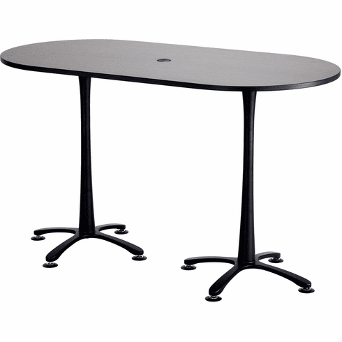 "Cha-Cha™ Conference Table Racetrack 72 x 36"" Asian Night & Black [2550ANBL]"