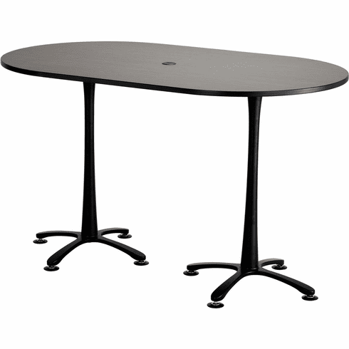"Cha-Cha™ Conference Table Racetrack 72 x 42"" Asian Night & Black [2552ANBL]"