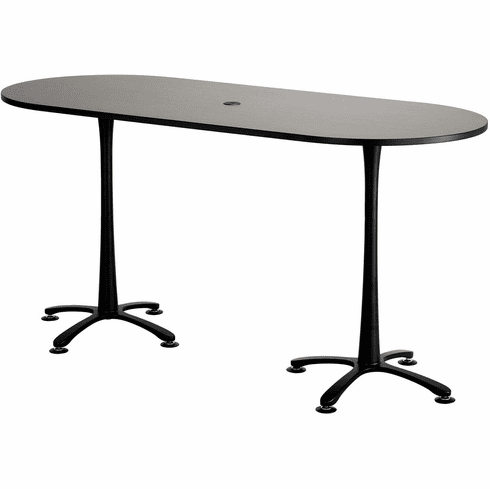 "Cha-Cha™ Conference Table Racetrack 84 x 36"" Asian Night & Black [2551ANBL]"