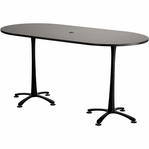 "Cha-Cha™ Conference Table Racetrack 84 x 42"" Asian Night & Black [2553ANBL]"