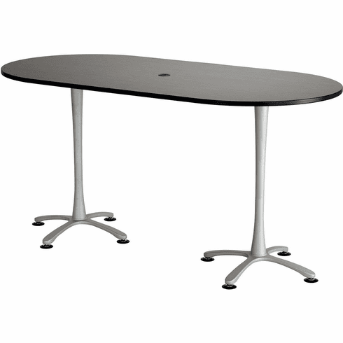 "Cha-Cha™ Conference Table Racetrack 84 x 42"" Asian Night & Metalli Gray [2553ANSL]"