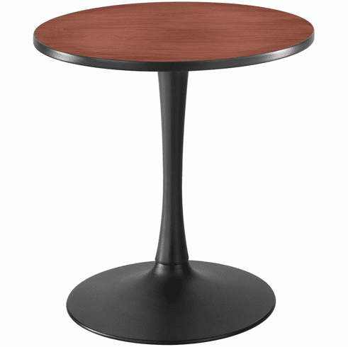 "Cha-Cha™ Sitting-Height Table Trumpet 30"" Round Cherry & Black [2475CYBL]"