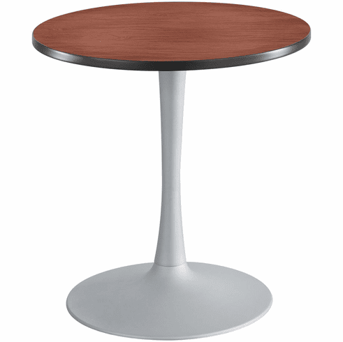 "Cha-Cha™ Sitting-Height Table Trumpet 30"" Round Cherry & Metallic Gray [2475CYSL]"