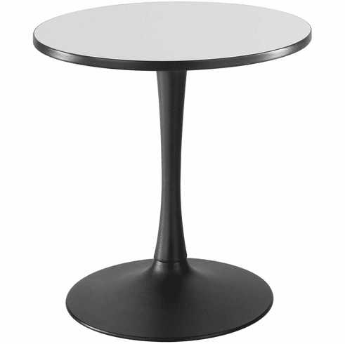 "Cha-Cha™ Sitting-Height Table Trumpet 30"" Round Gray & Black [2475GRBL]"