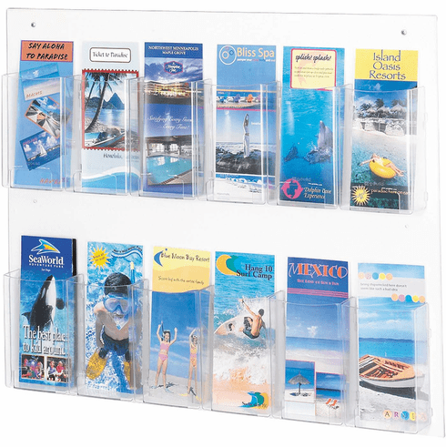 Clear2c™ Literature Organizer Display 12 Pamphlet [5671CL]