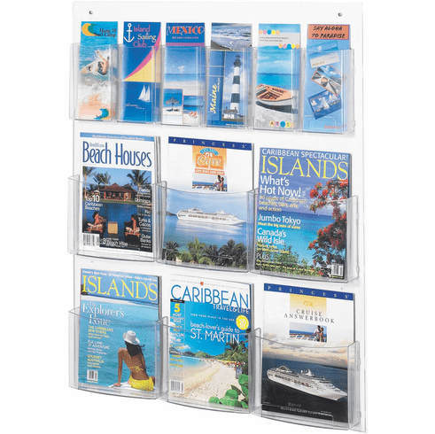 Clear2c™ Literature Organizer Display 6 Magazine and 6 Pamphlet [5668CL]