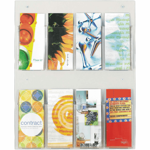Clear2c™ Literature Organizer Display 8 Pamphlet [5673CL]